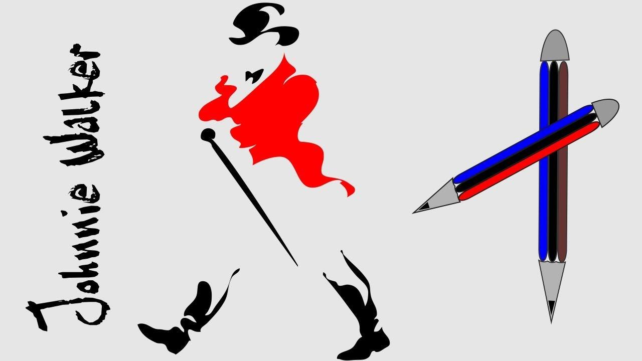 how to draw johnnie walker logo youtube rh youtube com johnnie walker logo vector johnny walker logo pdf