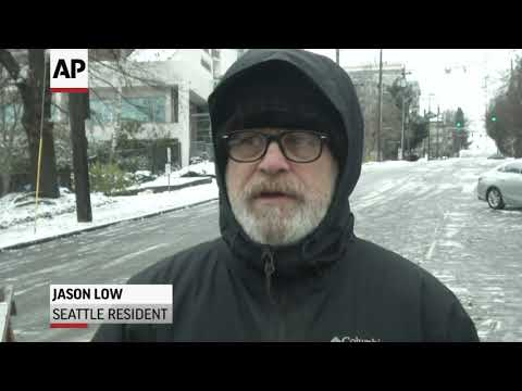 Winter Storm Hits Seattle, Leaving Icy Roads