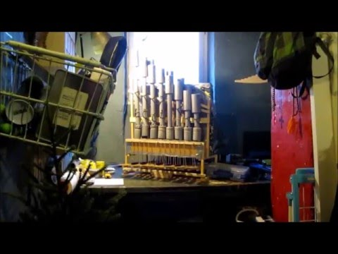 Portative DIY pipe organ test