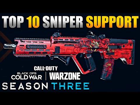 Top 10 Sniper Support Builds in Warzone   Best Class Setups for RAM, M4A1, FARA, XM4, FFAR & More!