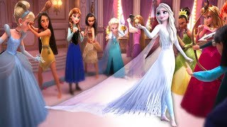 Disney Princesses VS Elsa White dress Frozen 2
