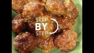 Cocktail Meatballs Recipe, How To Make Appetizer Meatballs, Appetizer Meatballs Recipe