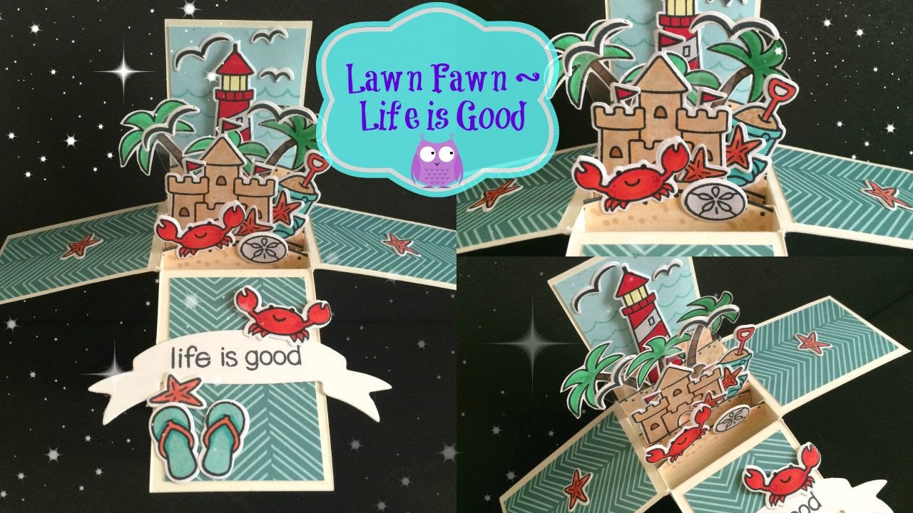 Lawn Fawn Life Is Good Box Card Process Video YouTube