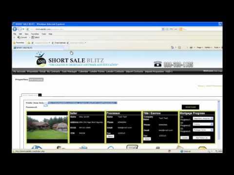 Short Sale Blitz Software Overview