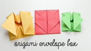 Origami Envelope Box Instructions - DIY