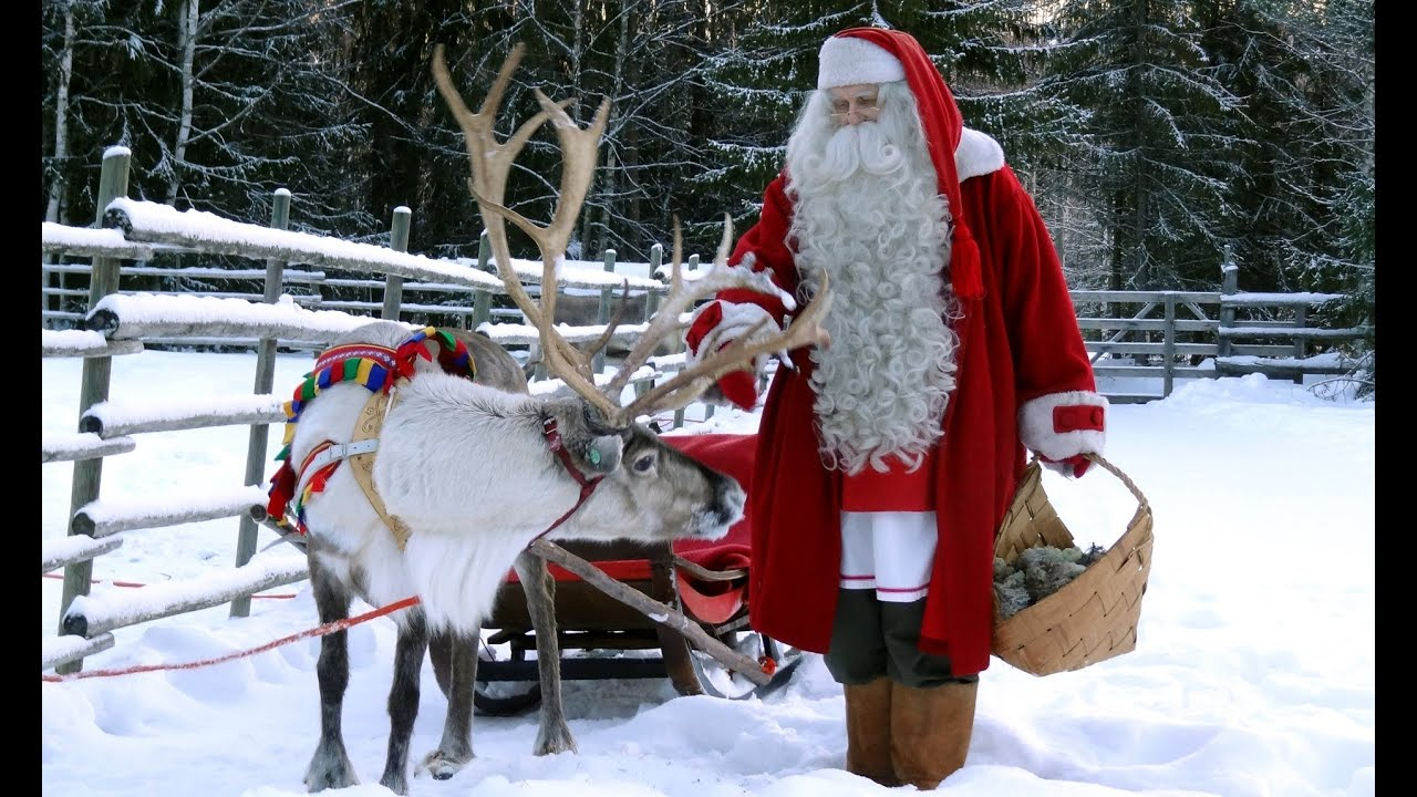 santa claus village in 4k rovaniemi lapland finland kids meet father christmas youtube - Where Can I Find Santa Claus