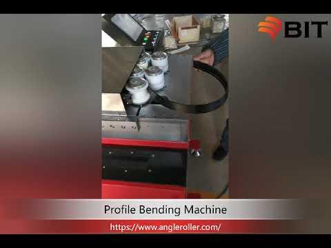 Small profile bending machine rolls aluminum profile round