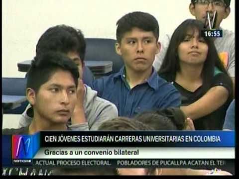 Cien jóvenes peruanos estudiarán becados en Colombia - Canal N
