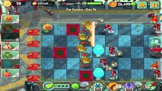 Plants vs Zombies 2: Far Future Day 14 Walkthrough