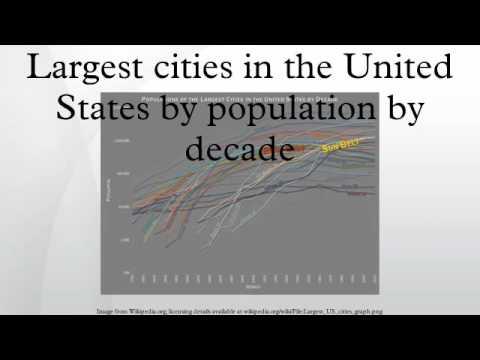Largest cities in the United States by population by decade