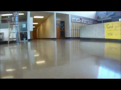 Empty halls at Pacific Christian School