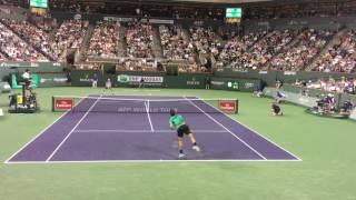 Roger Federer Indian Wells 2017 R2 - Courtside