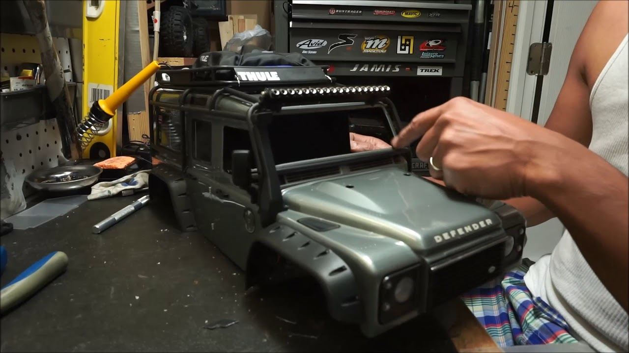 Traxxas Trx4 Land Rover Defender How To Install A Clear