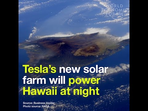 Tesla´s new solar farm will power Hawaii at night