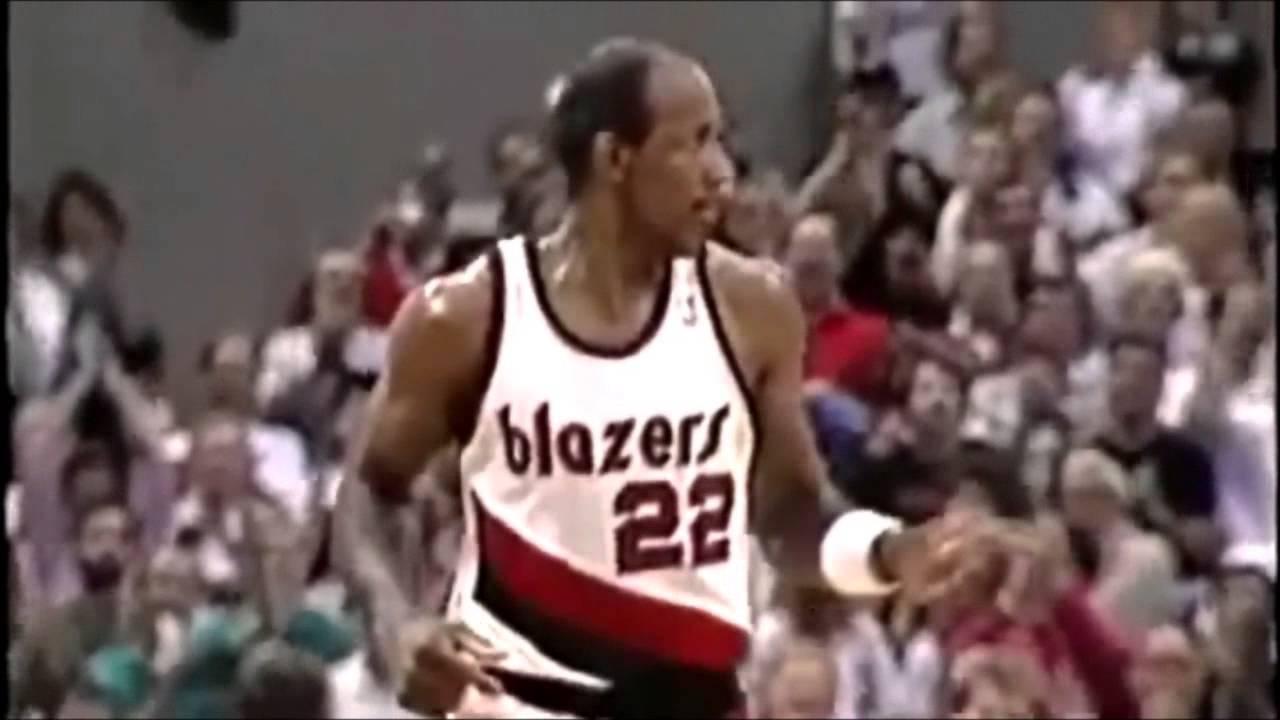 Clyde Drexler Trail Blazers Highlight Reel HD