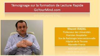 Vincent VIDAL - témoignage sur la formation de lecture Rapide