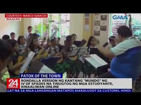 """Rondalla version ng kantang """"Mundo"""" ng IV of Spades na tinugtog ng mga estudyante, kinaaliwan online"""