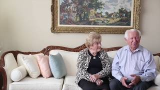 Howard and Nancy Kleinberg met when she saved his life in a concentration camp. They reconnected in Toronto and have been married 65 years.