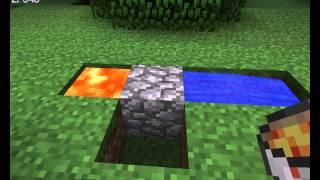 как сделать генератор камня в майнкрафт