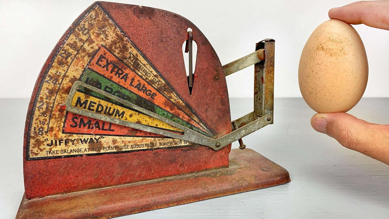 1940 Egg Scale Restoration - Antique Kitchen Tool