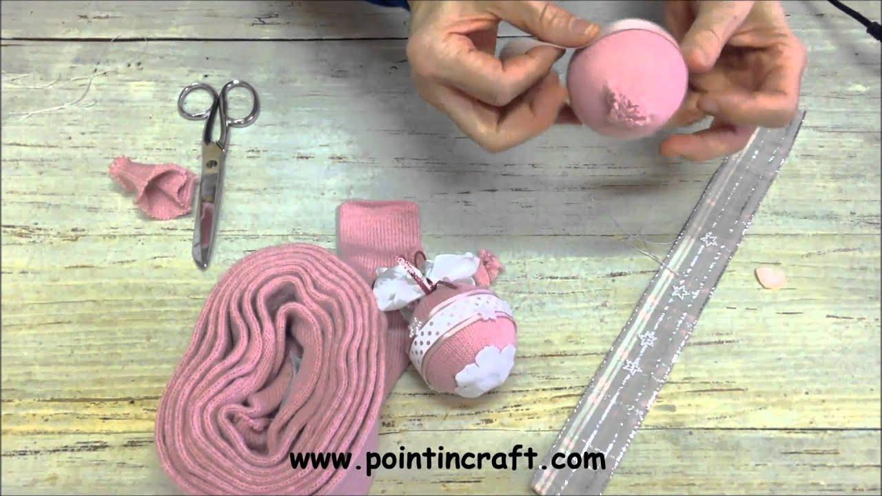 Palline di natale con la lana tutorial