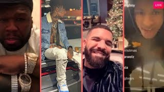 Rappers Christmas 2018 Buy Expensive Cars Gifts Surprises Reactions 2 (NBA YoungBoy Blueface 50Cent)