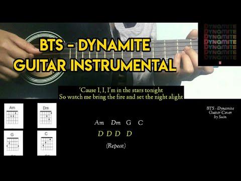 bts-(방탄소년단)-'dynamite'-guitar-instrumental-|-chords-+-lyrics-|-suin