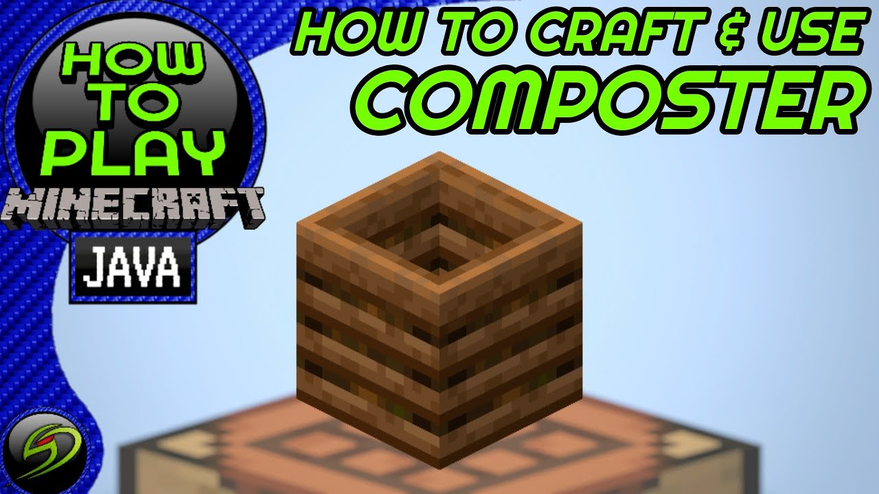 How To Craft And Use Composter Minecraft Block Tutorial You