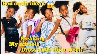 Breaking my school dress code for a week 😱