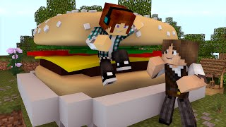 Minecraft : O MAIOR HAMBURGUER DO MUNDO !!  (Build Battle)