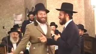 Yoeli Lebowitz and Hilly Hill at Sheva Brochos