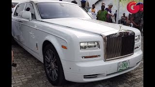 Oba Elegushi Arrives Oritsefemi's Wedding In Latest Rolls Royce Phantom, Alongside Efe & Jaywon