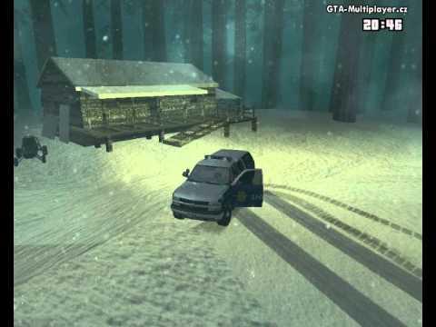 ORIGINAL GTA Wtls. Výjezd na zasněžený MC.