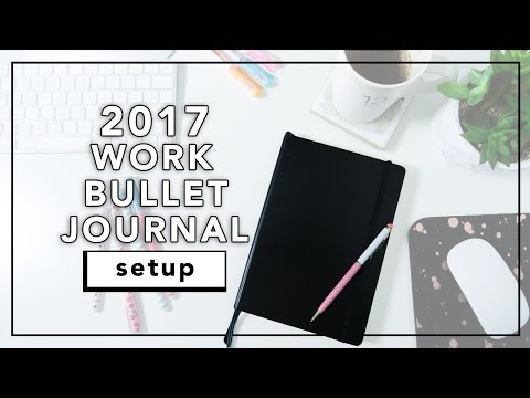 2017 Bullet Journal Setup | Work Bullet Journal Flip Through | beautybitten
