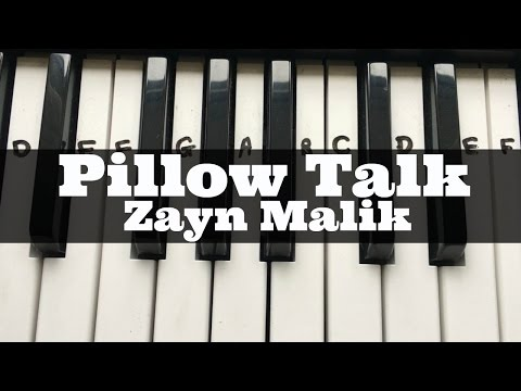 PILLOWTALK - Zayn | Easy Keyboard Tutorial With Notes (Right Hand)