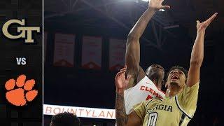Georgia Tech vs. Clemson Basketball Highlights (2018-19)