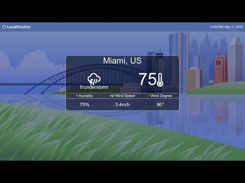 How to Build a Weather App: Part 1 (Bootstrap, html, css)