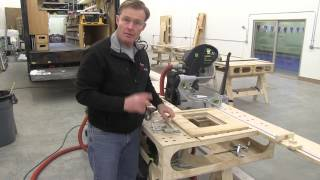Building The Paulk Total Station Part 15 Cutting In The Router Plate & Miter Track