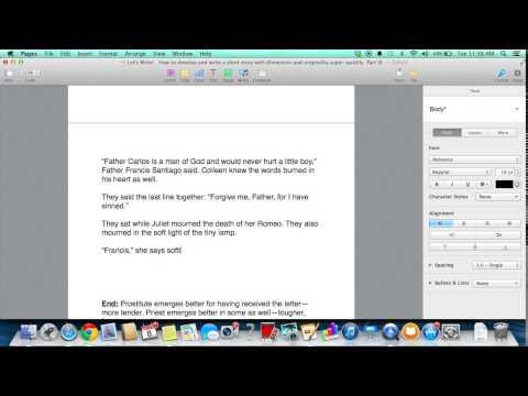 Let's write! How to develop and write a short story super quickly Part IV