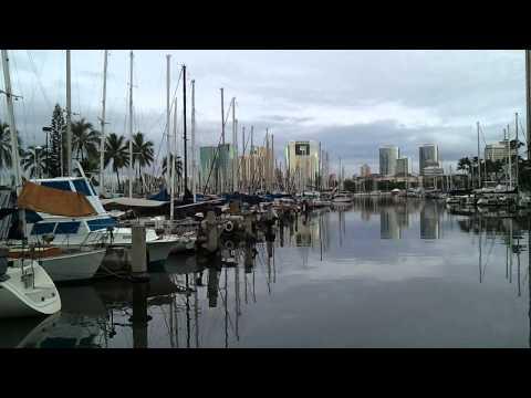 Ala Wai boat harbor Honolulu, Hawaii