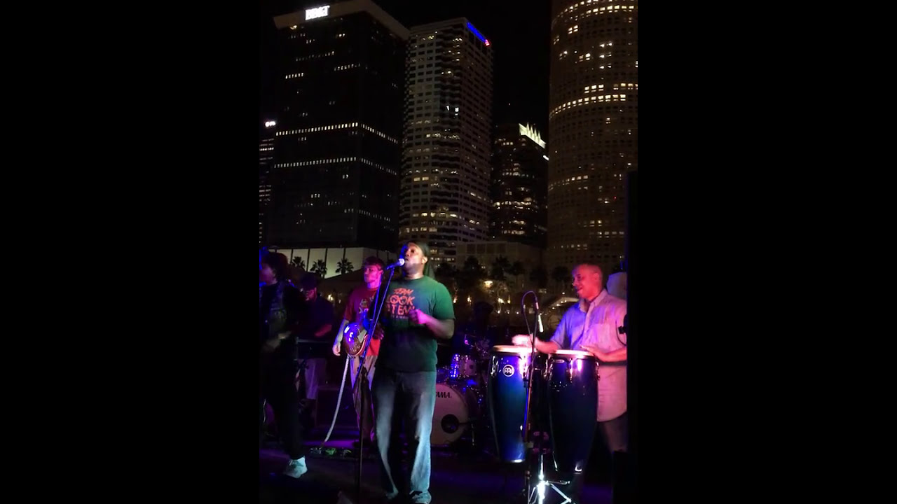 Synergy In A Cup performing Can We Keep It Cool at Curtis Hixon Rock the Park Concert Series