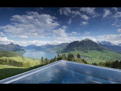 stairway to heaven infinity pool in hotel villa honegg ennetb rgen switzerland 5 stars hotel. Black Bedroom Furniture Sets. Home Design Ideas