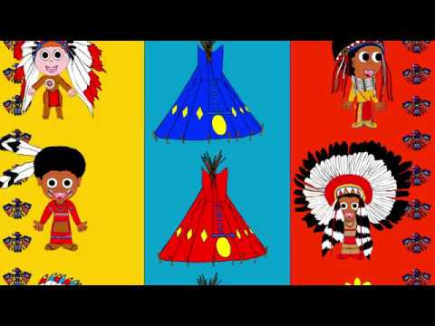 Ten Little Indians nursery rhyme, counting rhyme, song for kids