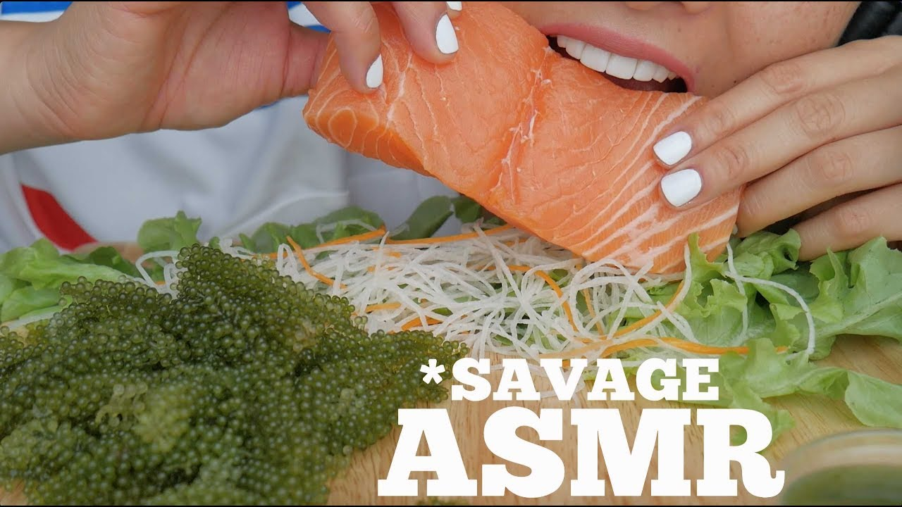 Asmr Salmon Seagrapes Extreme Eating Sounds No Talking Sas Asmr Youtube Asmr (autonomous sensory meridian response) is a euphoric experience identified by a tingling sensation that triggers positive feelings, relaxation and focus. asmr salmon seagrapes extreme eating sounds no talking sas asmr