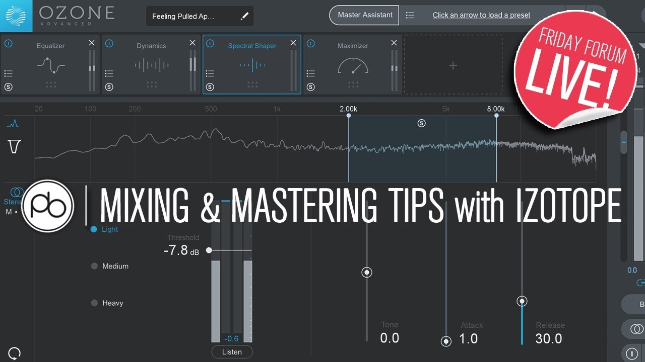 Point Blank Tutorial: Mixing & Mastering With iZotope Ozone