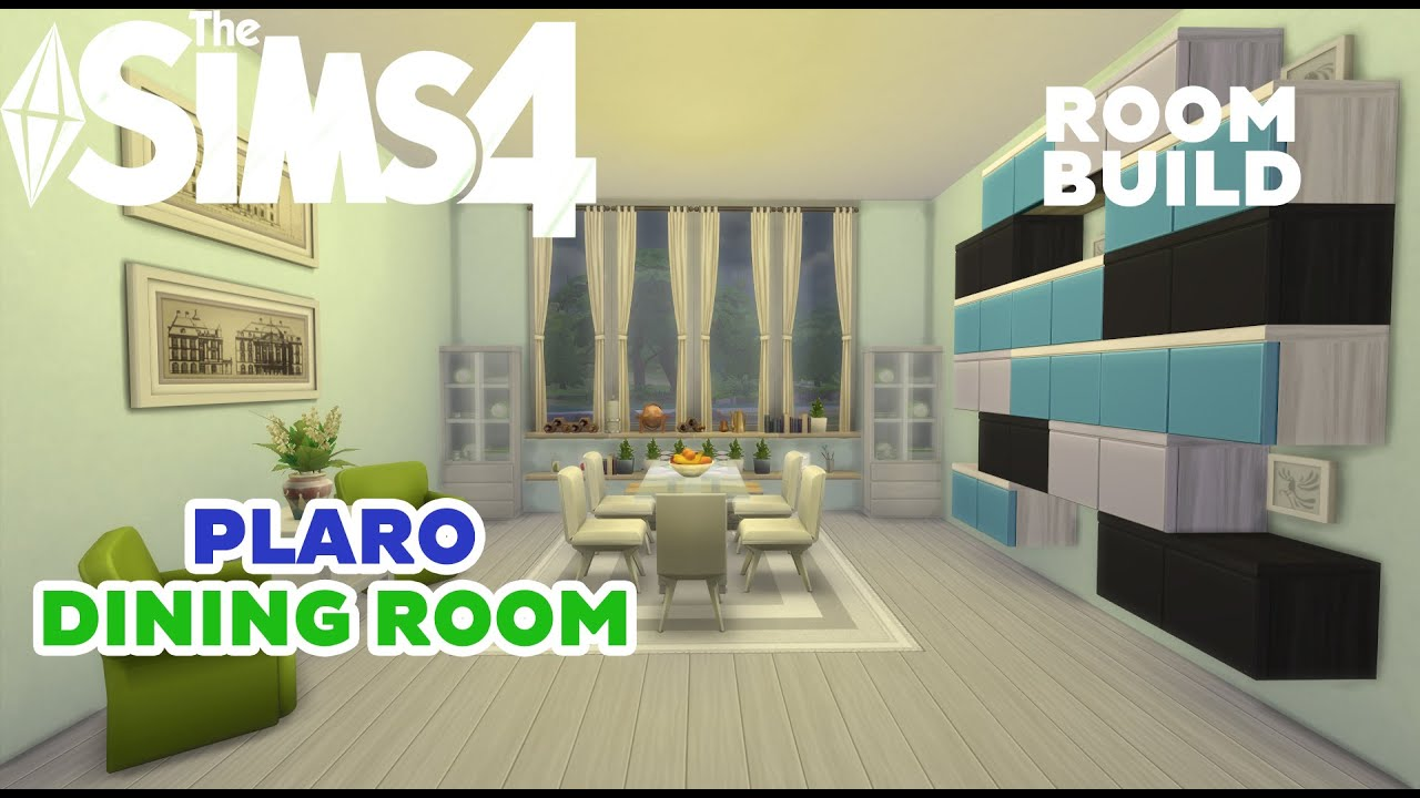 The sims 4 room build plaro dining room youtube for Sims 3 dining room ideas