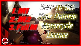 How To Get Your Ontario Motorcycle Licence - M1 M2 M