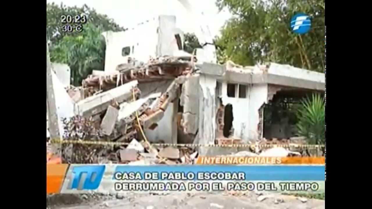 Vivienda Del Narcotraficante Pablo Escobar Se Derrumba Por El Paso De Los Años 06 02 2015 Youtube