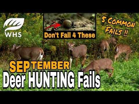 September Deer Hunting Fails