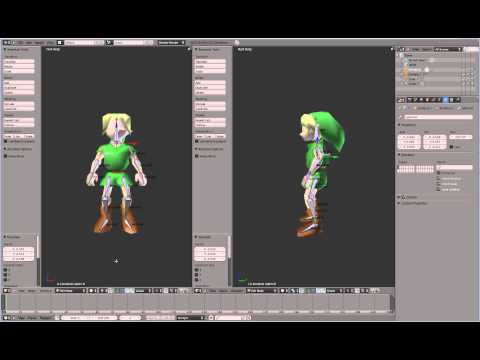 Rigging and Skinning a Character Model - YouTube - character model template